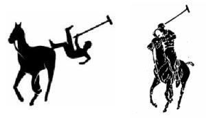 A la izquierda vemos se puede observar la parodia del logo de la marca norteamericana, aquí a la derecha de la imagen
