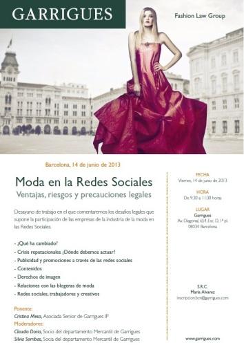 Moda en las Redes Sociales Garrigues 14 de junio 2013